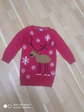 Новорічний светрик, новорічне плаття, кофта, туніка