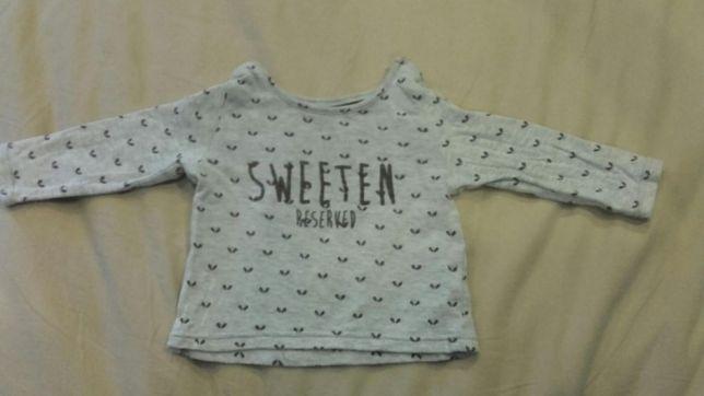 Piękna bluzeczka Reserved r.68 Sweeten Bluzka Sweterek Milusi w dotyku