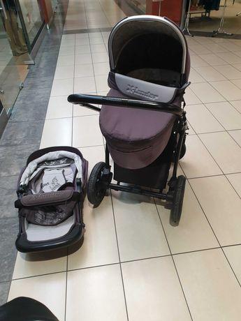 wózek x-lander, wózek 2w1, xlander plus śpiworek i mufka na ręce