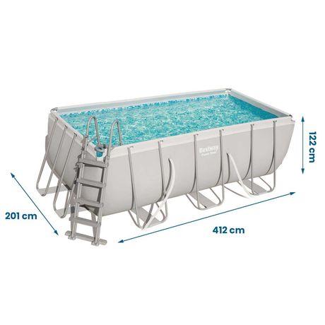 Basen ogrodowy prostokątny Bestway frame pool steel 412x201x122