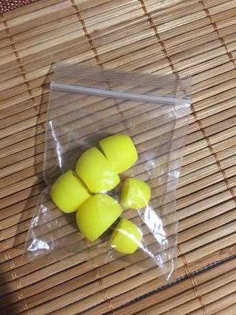 Nowe gumki do słuchawek nasadki nakładki na słuchawki żółte neonowe