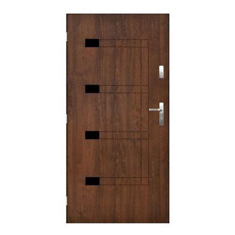 Drzwi zewnętrzne stalowe Houston 80p orzech