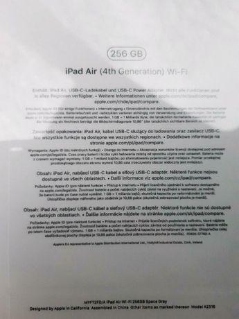 """Apple iPad Air 10,9"""" 256GB Wi-Fi Gwiezdna szarość"""