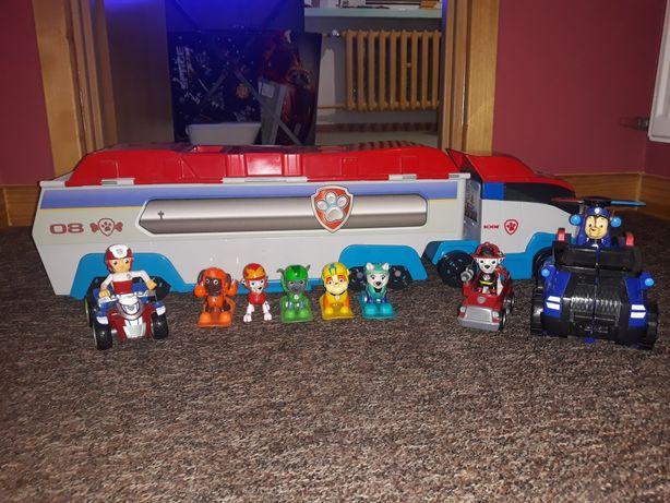 Samochód Psi Patrol+Figurki