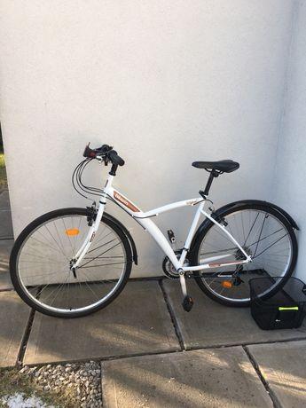 Rower biały uniwersalny  B'Twin original ! Jak nowy !