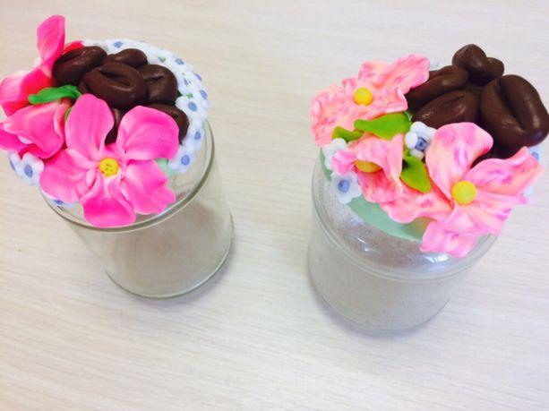 декорированные баночки ( для сладостей, специй)