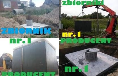 Betonowy Zbiornik 12m3 Szambo Betonowe na gnojowice odchody ścieki