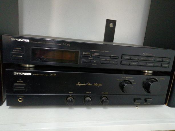 Pioneer amplificador +sintonizador rádio