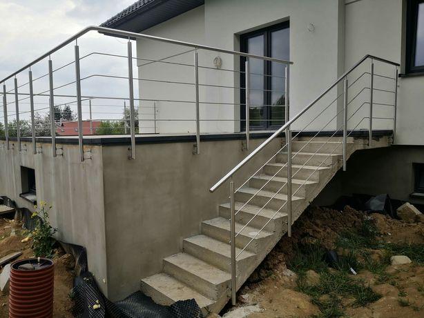 Balustrady balkonowe schodowe barierki poręcze najtaniej inox inox out