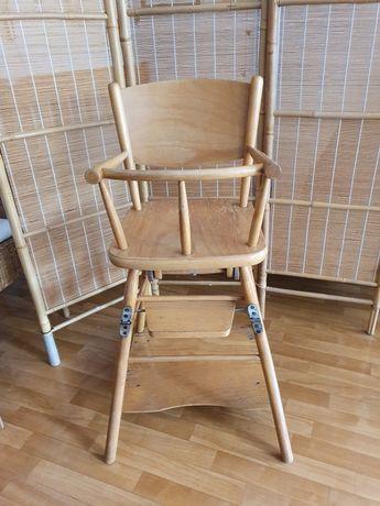 Krzesełko drewniane dla dziecka PRL