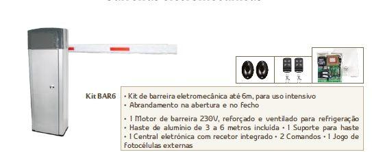 Kit Barreira Electromecânica BAR6 AUTOMATEASY