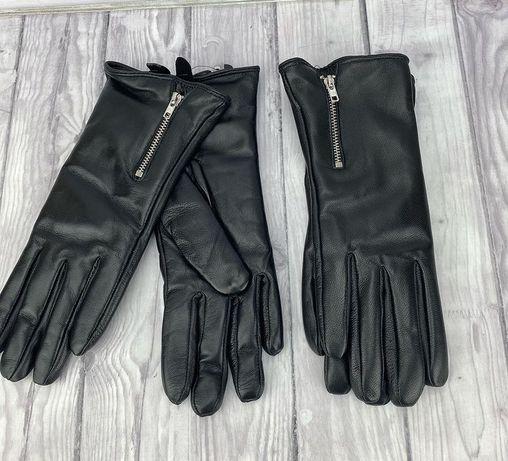Кожаный перчатки НОВЫЕ  утепленные