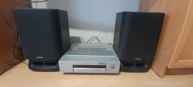 Sprzedam zestaw Głośników AIWA 120W oraz Amplituner Thomson 300W