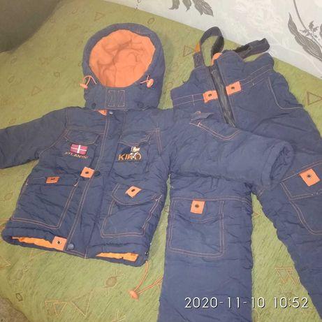 Дёшево. Зимний комбинезон 2 шт,куртка,рост 89-92-98