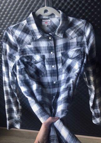 Koszula bawełniana Levi's, piękna krata, jak nowa, S