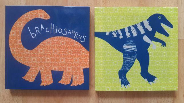 Obrazy Dinozaury ozdoba dekoracja dziecięcego pokoju dinusie