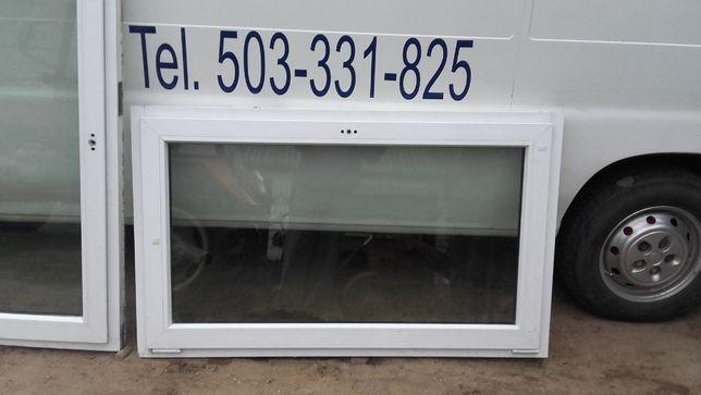 okno okna pcv białe z demontażu używane 60x100 100x100 145x145