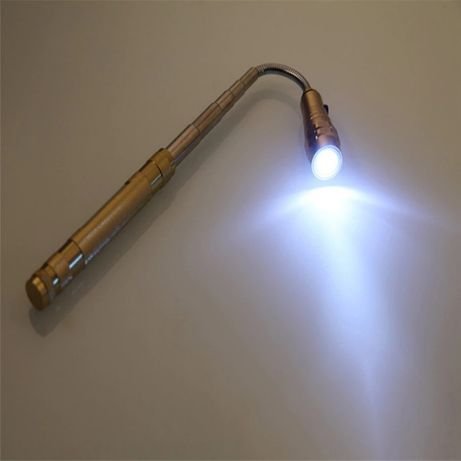 Lanterna LED extensível flexível com íman, serve de ovoscópio (novas)