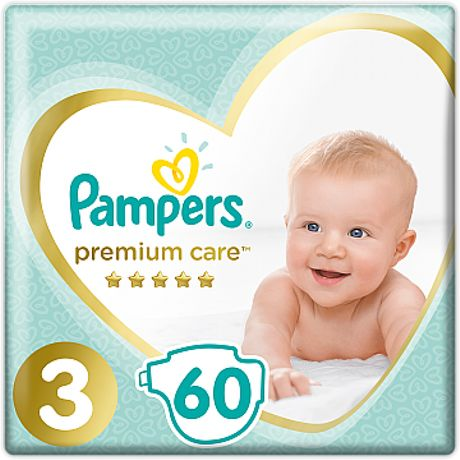Подгузники Pampers Premium Care 1, 2, 3, 4, 5