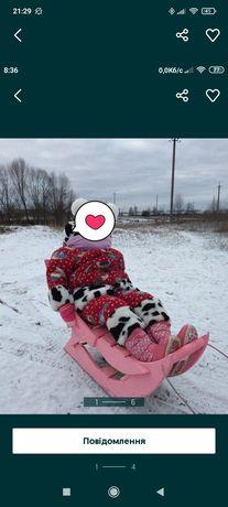 Продам зимний комбинезон и зимние сапожки 26 размер
