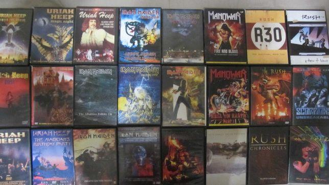UrianHeep,IronMaidan,Manowar,RUSH,Scorpions,RainbowнановыхDVD-R(видео)