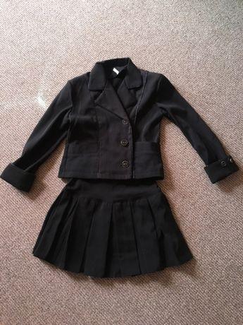 Школьный костюм на девочку 1 2 3 класс пиджак юбка
