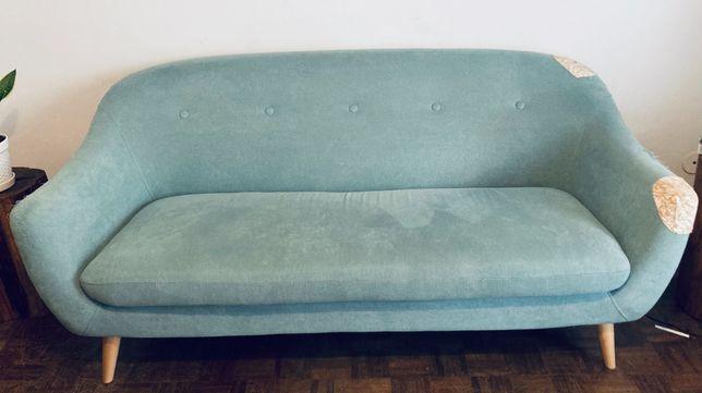 Sofá estilo vintage azul/cinza