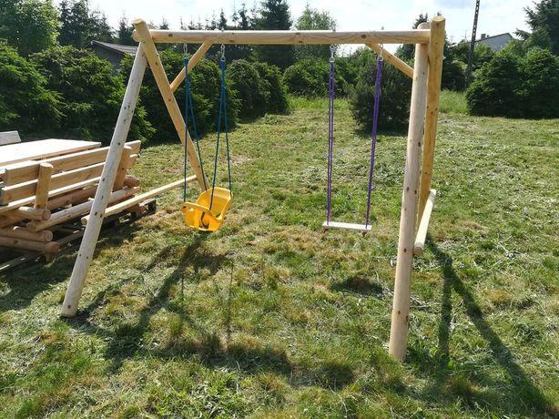 Huśtawka podwójna dla dzieci plac zabaw
