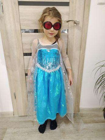 Sprzedam sukienka elza Anna kraina lodu idealna r.110 piekna nowa