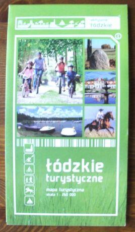 łódzkie turystyczne - mapa turystyczna 1:260 000