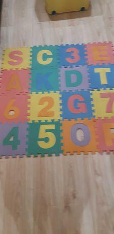 Puzle piankowe alfabet i cyferki /36 elementow