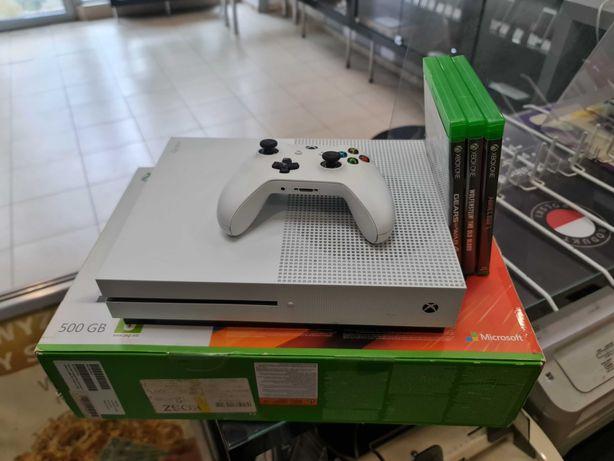 Konsola Xbox ONE S 500GB + pełen komplet + 3 gry / Gwarancja