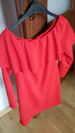 elegancka sukienka czerwona rozm.m/l