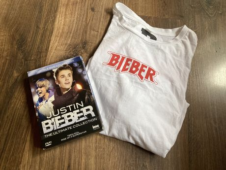 DVD Justin Bieber The Ultimate Collection + koszulka
