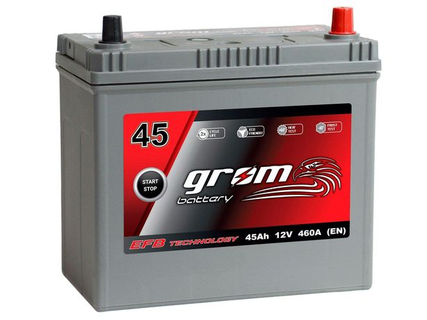 Akumulator Grom Efb Start&stop 45Ah/460A J P+