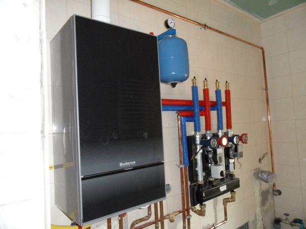 hydraulik, instalacje sanitarne, co, gaz, wymiana kotłów, Buderus