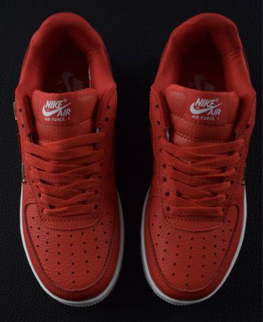 Nike air firce 1 red, красные кроссовки унисекс, adidas, puma