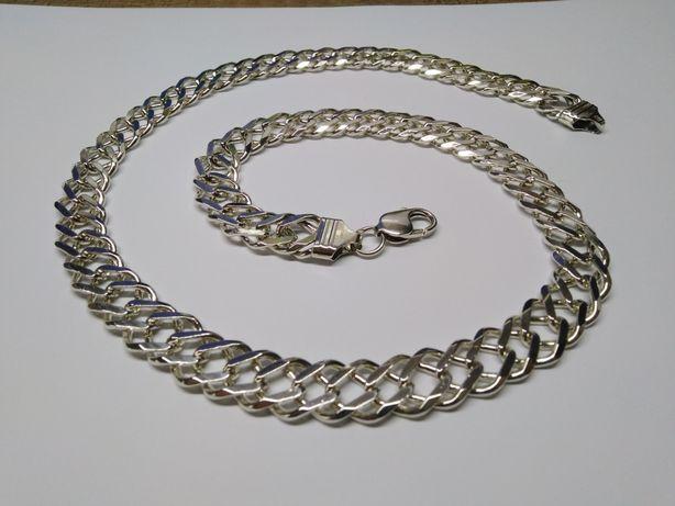 74 g Wielki Srebrny meski łańcuch Rambo Srebro 925 57 cm Pancerka