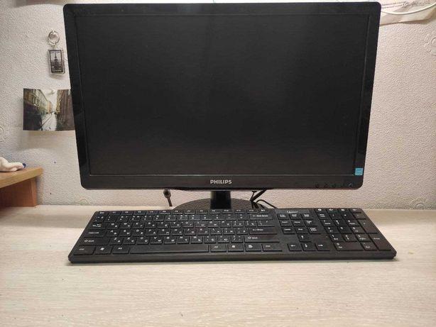 Продам рабочий компьютер (ПК) + монитор+клавиатура+ мышка.