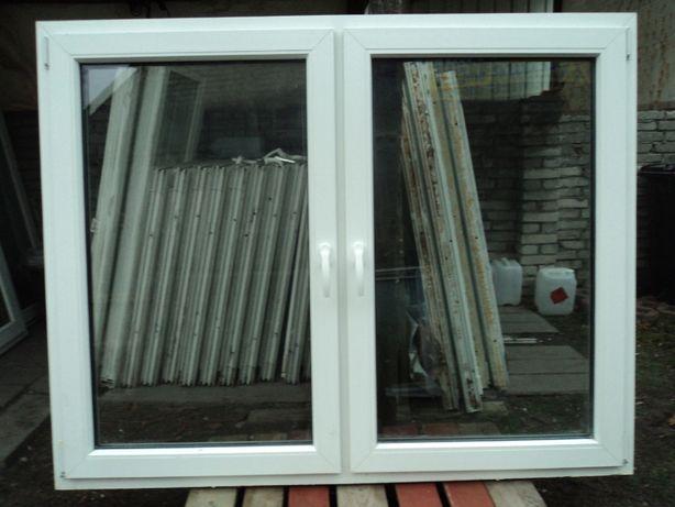 Okna pcv używane -sz168x136w- symetryczne 5-komorowe