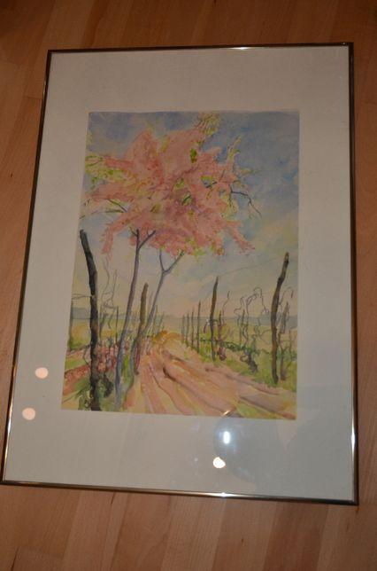 Obraz akwarela drzewo