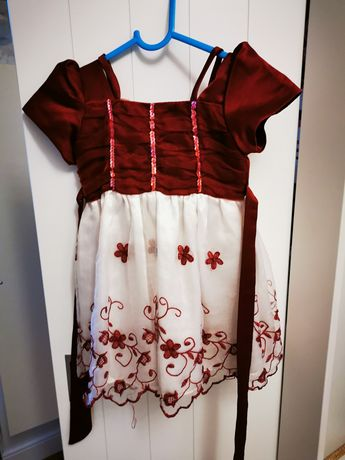 Piękna sukienka 86 chrzest komunia ślub