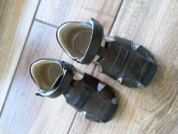 Sandałki emelki roczki, khaki, Rozmiar 22