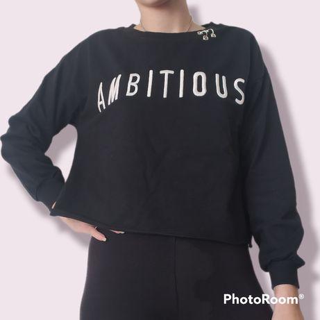 Sweater sweatshirt camisola manha comprida preta Ambitious Shop1one