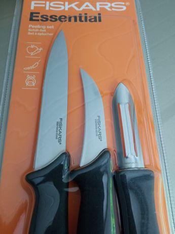 Nowy Zestaw Noży Fiskars 2 noże + obieraczka /wytrzymałe / oryginalne/