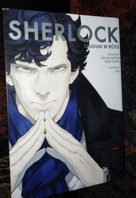 """manga """"Sherlock: Studium w różu"""" Mark Gatiss, Jay. i inni"""