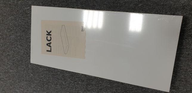 Półka ścienna - biały połysk 59x26 cm - nowa!