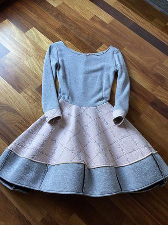 Śliczna  sukienka by o la la szara xs/s