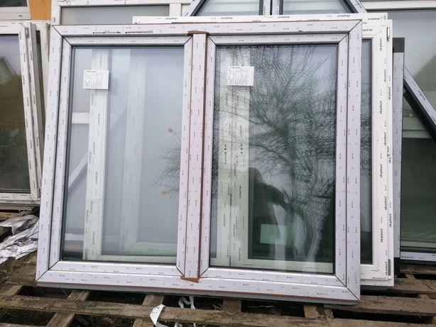 Okno PCV 177 x 149 złoty dąb 3 szyby nawiewnik 180 x 150