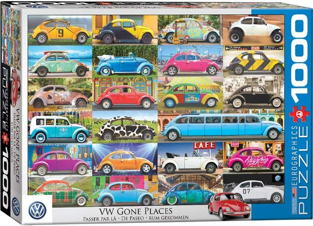 Puzzle Eurographics 1000 Peças 5422 VW Beetle Gone Places - NOVO
